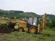 Трактор экскаватор в Столбцах. Планировка участков,  копка ям